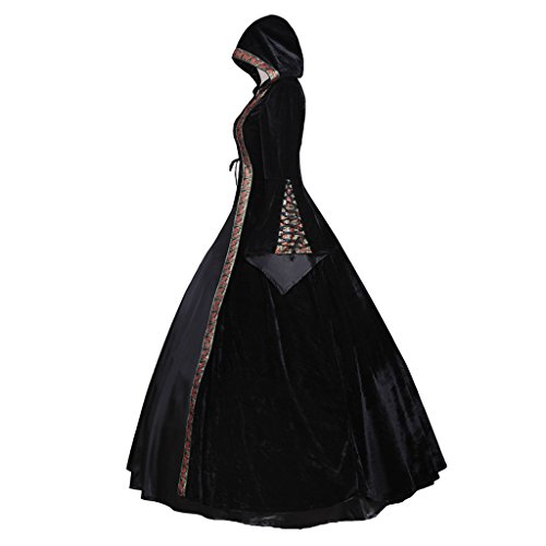 CosplayDiy Women's Deluxe Hooded Collar Victorian Dress Costume XXL by CosplayDiy (Image #2)