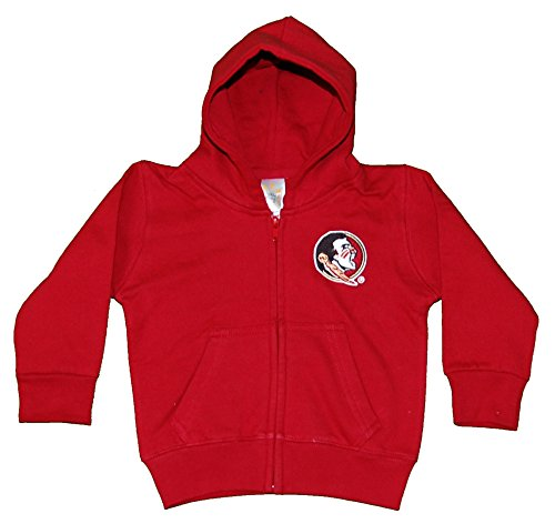 Little King NCAA Florida State Seminoles Full Zip Hooded Jacket, 3T, (Garnet Florida State Seminoles Jacket)