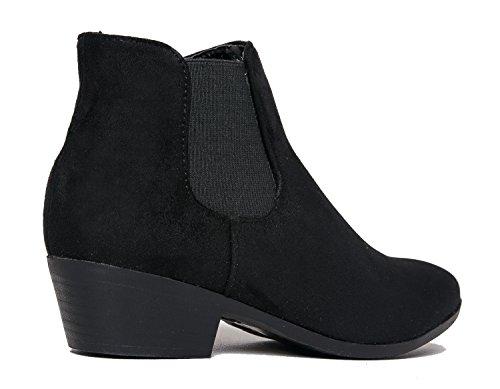 Alton Western Ankle Bootie, Black IMSU, 8.5 B(M) US by ZooShoo (Image #3)