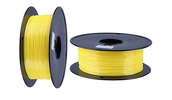 Pla filamento 3d impresora filamento 1,75 mm 1 kg color amarillo ...