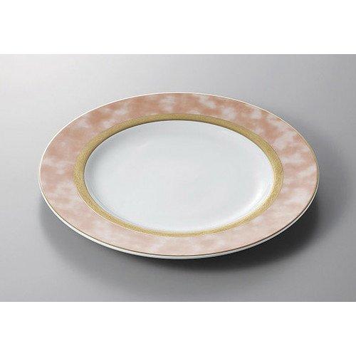 Service plate Athenee pink 12 inch chop [30.5 x 3 cm] Ryotei ryokan Japanese food machine restaurant business use ()