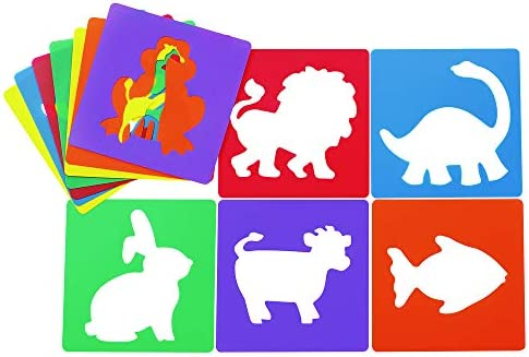 [해외]Colorations 동물 셰이프 스텐실 8 \\ / Colorations Animal Shape Stencil, 8\\