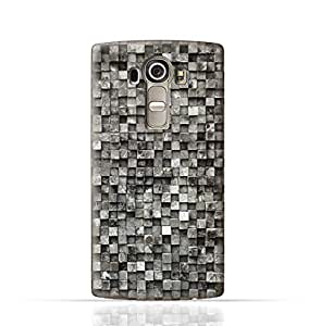 LG G4 Stylus TPU Silicone Case with Old Cube Black Wood Texture