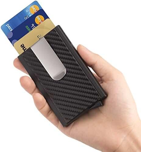 ManChDa RFID Blocking Money Clip Aluminum Pop-up Card Case Magnet Slim Wallet