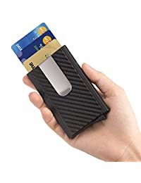 Money Clip Slim Pocket Wallet RFID Blocking Mens Business Credit Card Holder