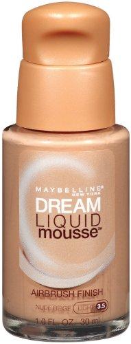 Maybelline Dream Liquid Foundation de New York de mousse, Nude Beige Clair 3.5, 1 once liquide