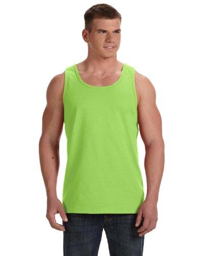 (Fruit Of The Loom Men's Two Needle Hemmed Bottom Tank, Neon Green, Small )