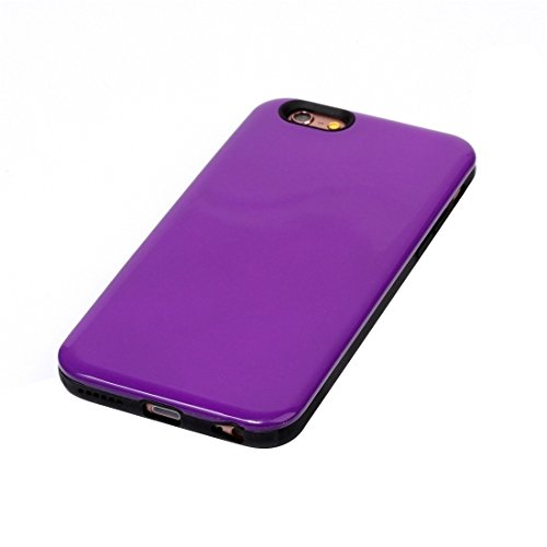Phone Taschen & Schalen Für iPhone 6 Plus & 6s Plus TPU + PU Kombi-Schutzhülle ( Color : Purple )