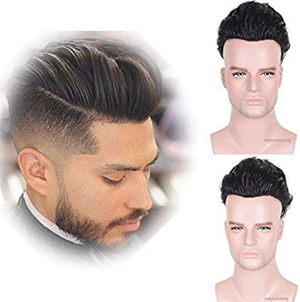 Auspiciouswig - Piezas de pelo humano natural para hombre con ...