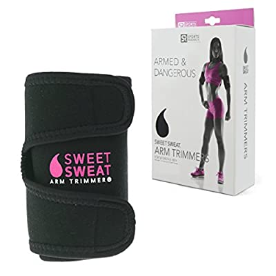 Sweet Sweat Premium Arm Trimmers for Men & Women   Helps Improve Circulation & Sweating   Includes Bonus Breathable Carrying Bag