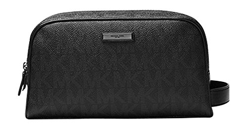 Michael Kors Black Double Zip Toiletry Travel Case by michael kors