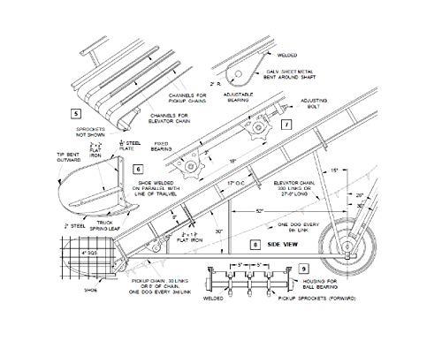 Portable Conveyor System Plans Diy Hay Bale Loader Elevator Yard