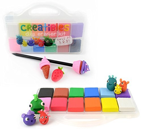 Creatibles Colourful Eraser/Rubber Making Kit - Fun DIY Craft For Kids - Build - Bake - Erase by Creatibles