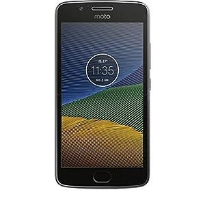 Motorola Moto G5 XT1676 Gray, Dual Sim, 5 inch, 16GB, GSM Unlocked International Version, No Warranty (Renewed)