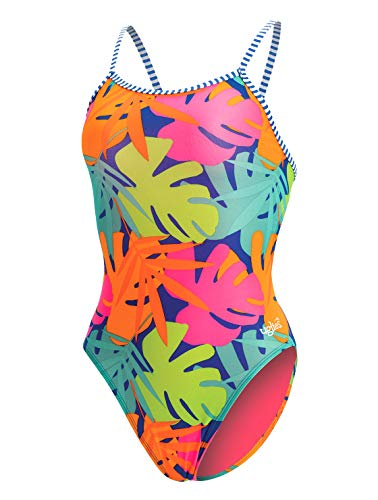 23cff0a6444 Dolfin Women's Uglies Prints Double Strap Back Swimsuit (Tropic Time, 34)