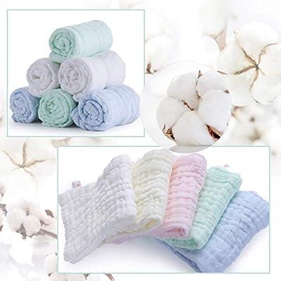 Toallitas de algodón de muselina para bebé, juego de 5 paquetes ...