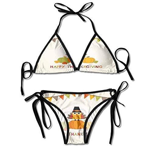 kjhep lk Women's Two Pieces Print Bikini Maya Halterneck Swimsuit Bikini Sets Bathing Suit
