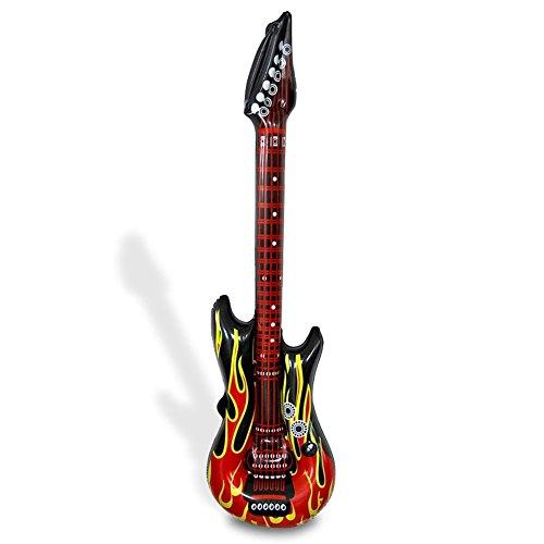 HC-Handel 910728 Aufblasbare Gitarre Luftgitarre Airguitar Flammen 100 cm