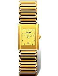 Rado Integral Gold Dial Gold Tone Ceramic Unisex Watch R20381272 by Rado