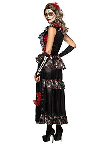 DISBACANAL Disfraz Catrina Día de los Muertos Mujer - Único ...