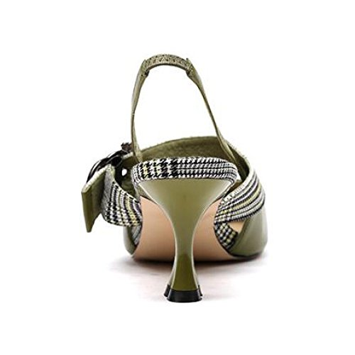 Mariage Mi Chaussures Femmes Boucle Bas Pointu Green Bal De Talon Taille Orteil De De Slingback Dames Haut Mariage 5vvxESyBq