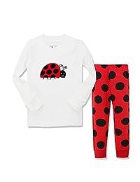 Kidsmall Little Girls Long Sleeve Pajama Set Cotton sleepwear 2-7 Years