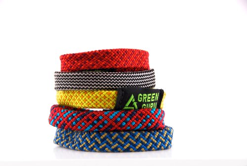Green Guru Gear Climbing Rope Upcycled Made in USA Bracelet, Large