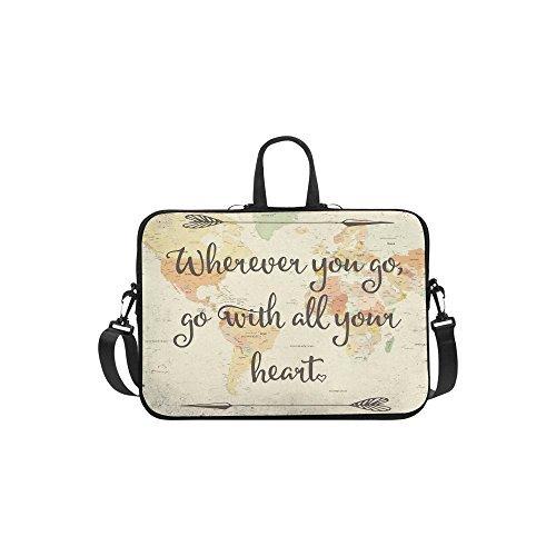 InterestPrint Inspirational Life Quote Shoulder Strap Computer Bag