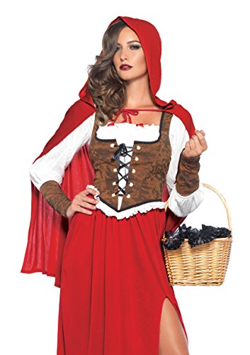 [Leg Avenue Women's Woodland Red Riding Hood Costume, Red, Large] (Little Red Riding Hood Hood)