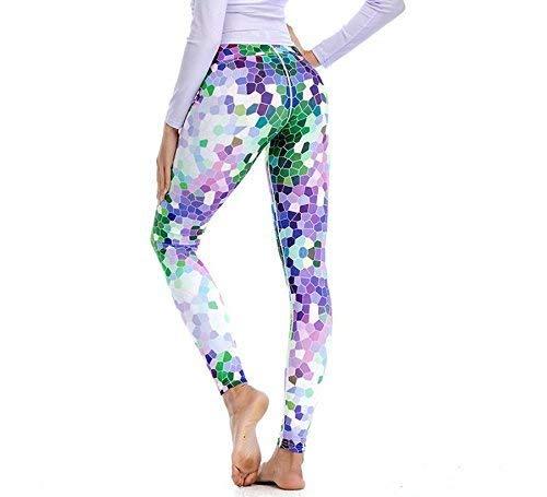 Huixin Donna Stampato Da Media All'aperto Vita Pantaloni Ginnastica 1 Leggings Slim Fit Trekking Modello r6rtwSq