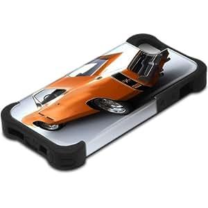 Coches 10094, Coche de Lujo, Design Negro Caso Carcasa Funda de Silicona Hybrid Armor Protección Case Cover con Diseño Colorido y Protector De Pantalla para Apple Iphone 5 5S.