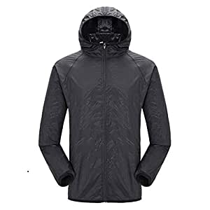 BEESCLOVER Quick-Dry Sports Clothing Men Women Hiking Jacket Light-Weight Windproof Waterproof Nylon Sports Top Suit B S