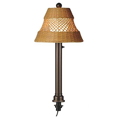 Java 16777 Bronze Umbrella Table Lamp With Walnut Wicker Shade, 36-inches Tall ()