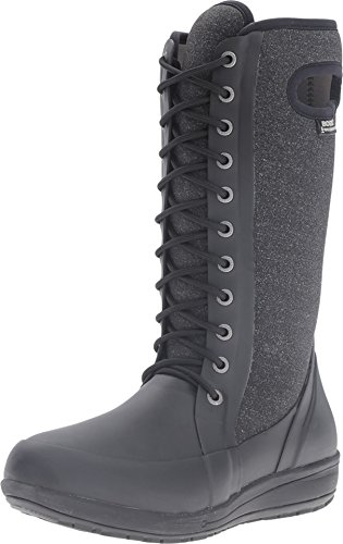 Bogs Women's Cami Lace Tall Melange Waterproof Winter Boot Blk Mlti 8 M US by Bogs
