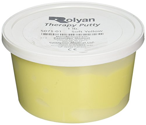 (Sammons Preston Therapy Putty for Physical Therapeutic Hand Exercises, Flexible Putty for Finger and Hand Recovery and Rehabilitation, Strength Training, Occupational Therapy, 1 Pound, Soft, Yellow)
