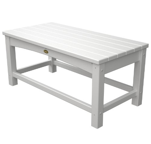 (Trex Outdoor Furniture Rockport Club Coffee Table, Classic White)