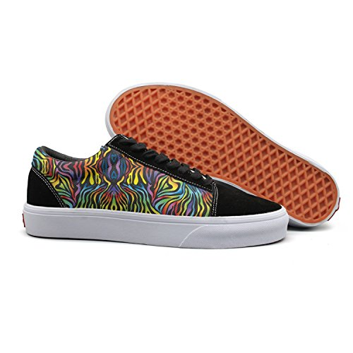 Canvas Comfortable Zebra Low Womens Print Women's The Plain Feenfling for Running Boat Shoes Rainbow Shoes Top EPYAB