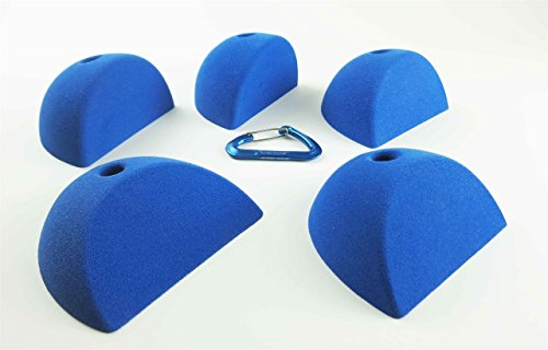 5 XL Flat Slopers | Climbing Holds | Blue by Atomik Climbing Holds