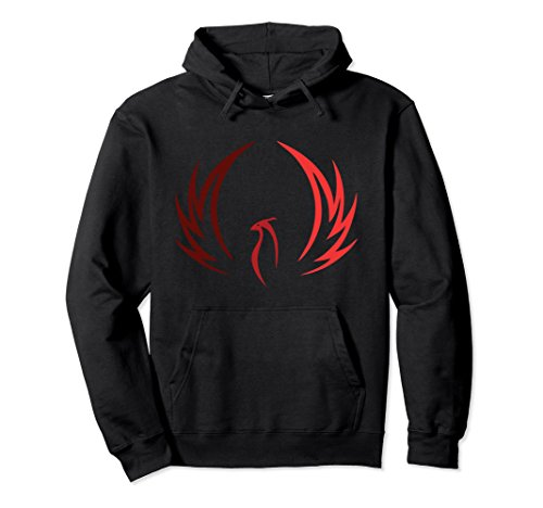 Unisex Phoenix Fire Bird Pullover Hoodie Medium Black