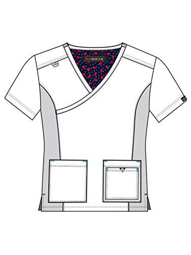 KOI Basics Multi-Pocket Ultra Comfort & Lightweight Katie Scrub Top for Women