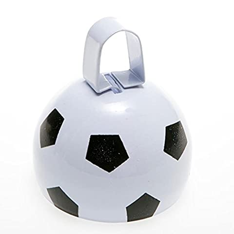 Black And White Metal Soccer Ball Cowbell Noisemakers (12) (3 Inch Cowbell)