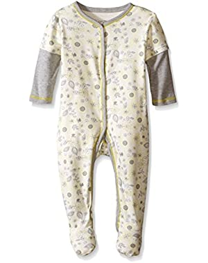 Baby Girls' Flower Print Footie Pajama