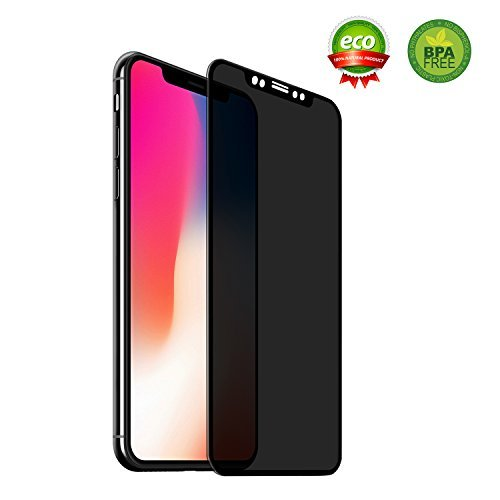 iPhone X Privacy Screen Protector,Privacy Screen iPhone X Screen Protector with Shield Anti-Fingerprint Bubble Anti-Scratch For iPhone X (iPhone X Black)
