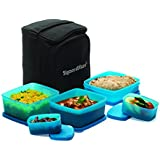 Signoraware Trendy Lunch Box with Bag, Blue