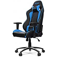 AKRacing Nitro Series Premium Gaming Chair with High Backrest, Recliner, Swivel, Tilt, Rocker and Seat Height Adjustment Mechanisms with 5/10 warranty Blue
