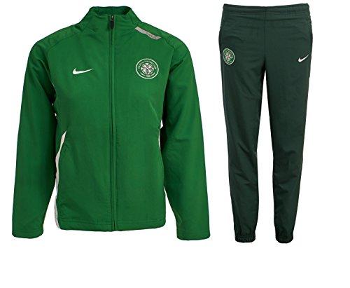 Nike Boys Celtic FC Tracksuit Junior Training Kids Woven Presentation Soccer Jog Suit (M (10/12 Years), Green)