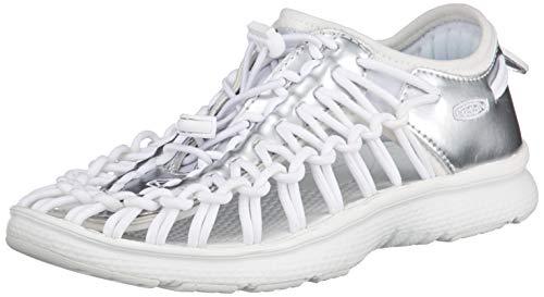 KEEN Unisex Uneek O2 Hiking Shoe, White Bear, 5 M US Big Kid -