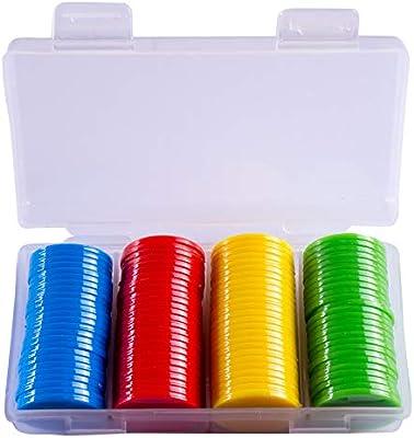 Onsinic 100 Piezas de 25 mm de plástico Fichas de Poker Bingo ...