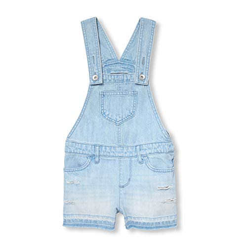 The Children's Place Big Girls' Denim Overall Shorts, Light Dreamer wash, 4