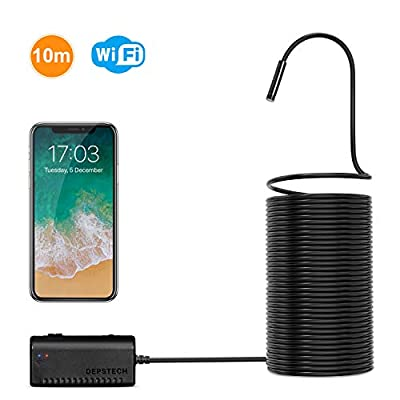 Wireless Endoscope, DEPSTECH WiFi Borescope Inspection Camera 2.0 Megapixels HD Snake Camera for Android and iOS Smartphone, iPhone, Samsung, Tablet